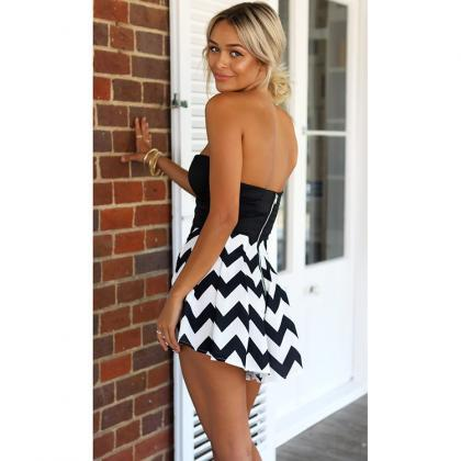 Free shipping Stripe Print Rompers