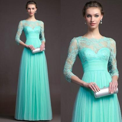 Charming Long Sleeve Lace Perspecti..