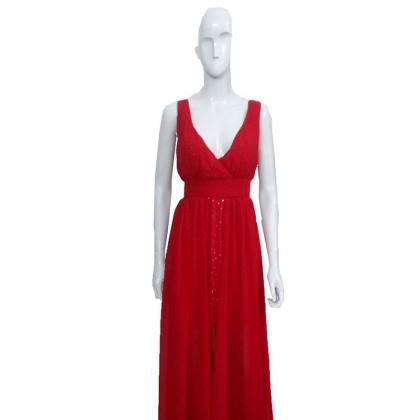 Sexy V Neck Grenadine Chiffon Eveni..