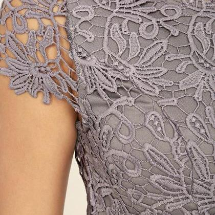 High Quality Hollow Lace Backless D..