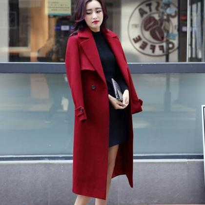 Designer Fashion Long Style Wool Wi..