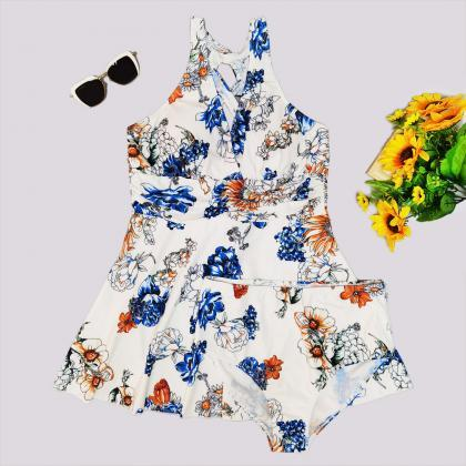 Floral Print Swimdress and Shorts