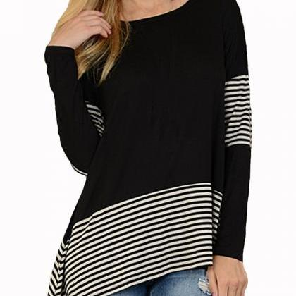 New Loose Irregular Long Sleeve T s..