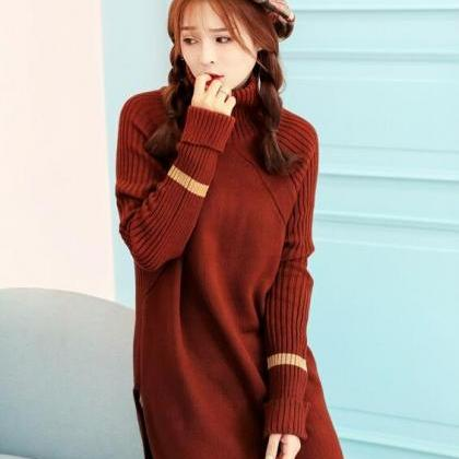 Fashion Long Sleeve Long Pattern Pu..