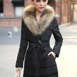 Luxury Animal Fur Decoration High W..