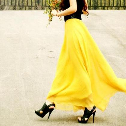 New Bohemia Long chiffon Skirt