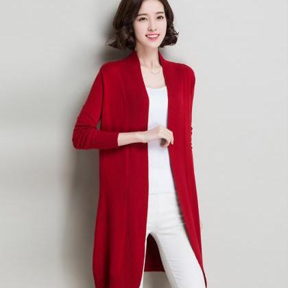 Autumn and winter women slim long s..