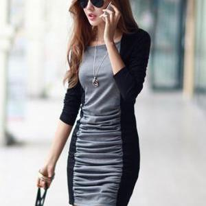 Work Essential Round Neck Black and..