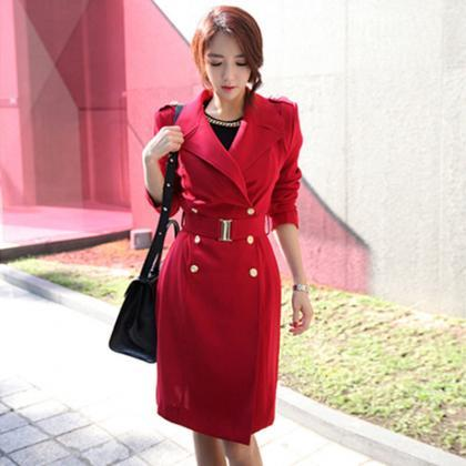High Quality Long Style Coat with B..