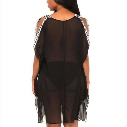New Deep V Neck Swim Suit Cover Up