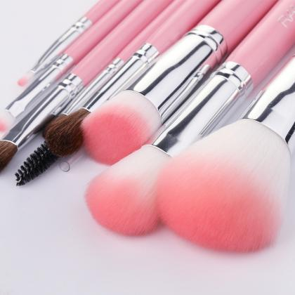 New Makeup 10PCs Brushes Set With L..