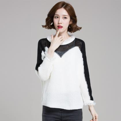 Retro Tassels Loose Pullover Sweate..