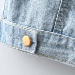 Cute Turndown Collar Button Fly Wom..