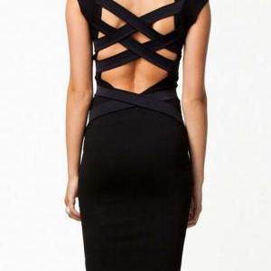 Exclusive Open Back Dress with Cap ..