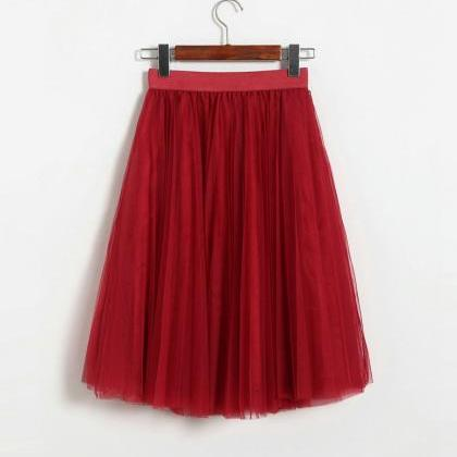 New Spring And Summer Gauze Skirt W..