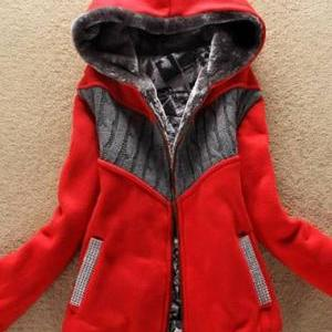 Fashion New Arrival Hooded Collar W..