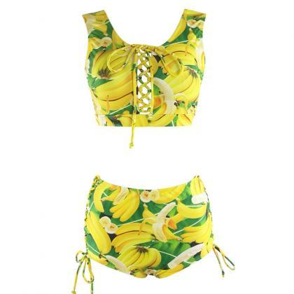 New Arrival Banana Pattern Swimwear..