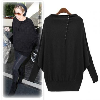 Fashion Batwing Sleeve Pullover For..