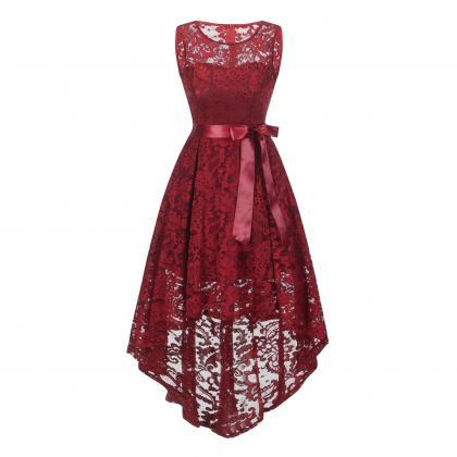 New Elegant Round Neck Lace Dress -..