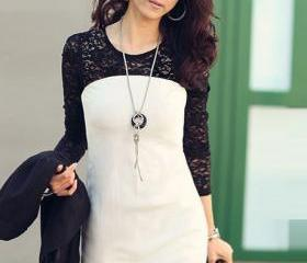 Chic Black Lace Patc..