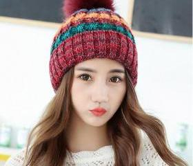 Cute Knitted Hat Fo..