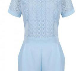 Light Blue Lace Shor..