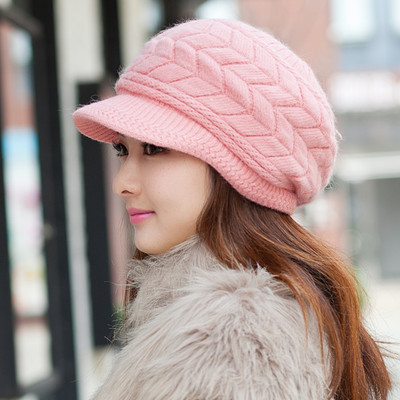 Free Shipping Cute Winter Hat Knit Cap For Women - Pink