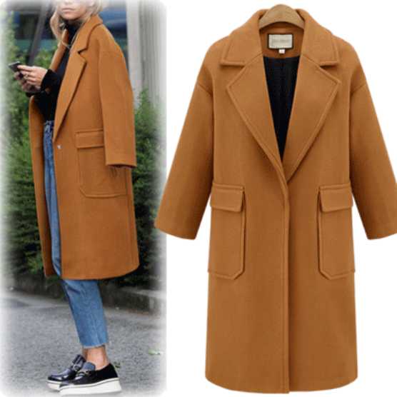 Good Quality Designer Pockets Wool Winter Coats (3 Colors)
