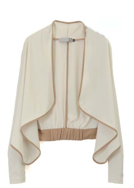 Woman Paned Long Sleeve Cotton Blend Cardigans - Beige