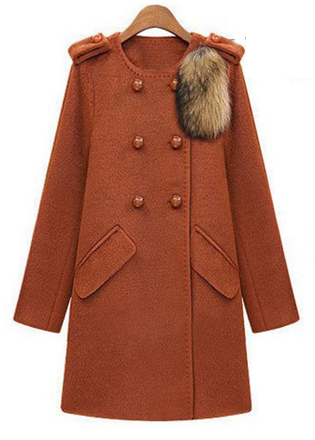 Fashion Woman Luxury Double Breasted Woolen Long Coat