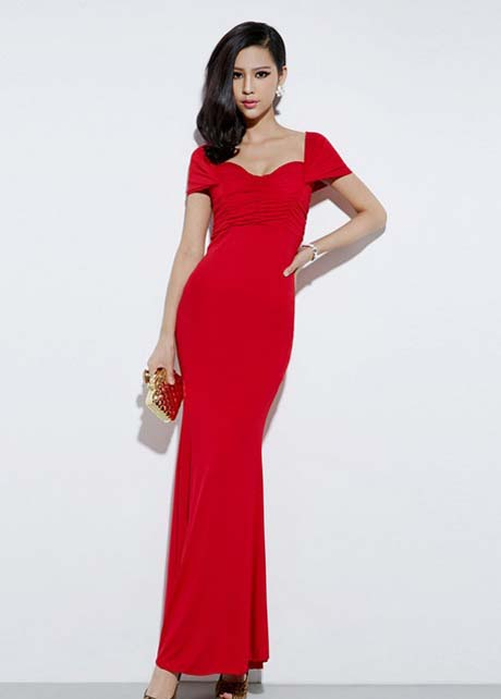 Sexy And Elegant Off Shoulder Red Mermaid Dress for Prom