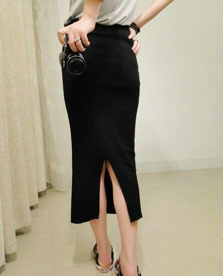 New Autumn Winter Knitted Split Skirt