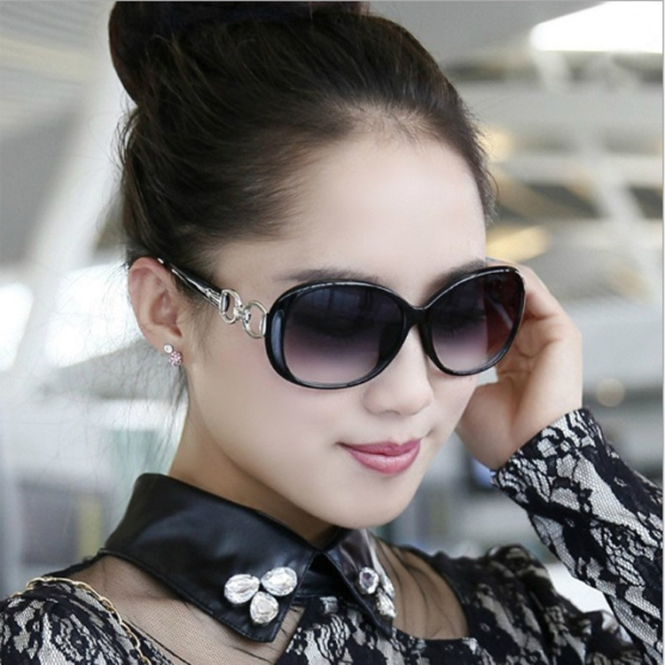 Free Shipping Fashion Gradient Sunglasses For Women - Black
