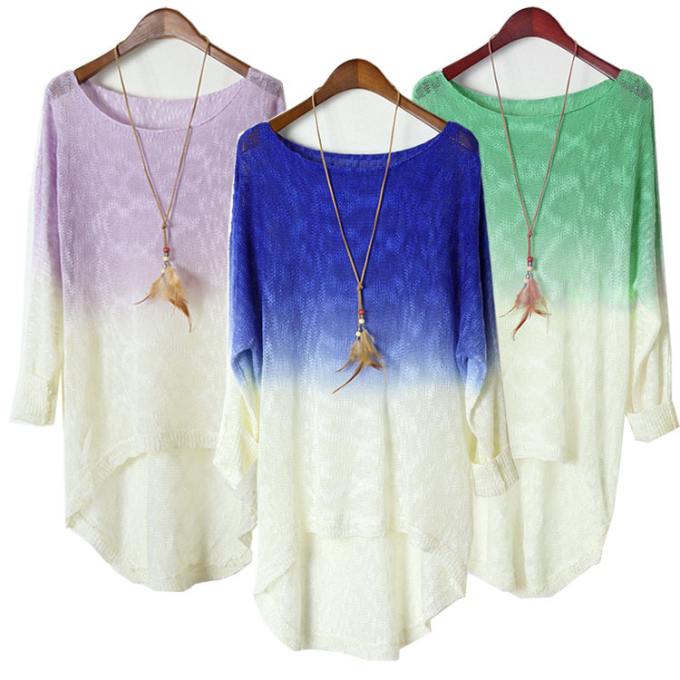 Fashion And Good Quality Casual Batwing Sleeve Loose Sweaters