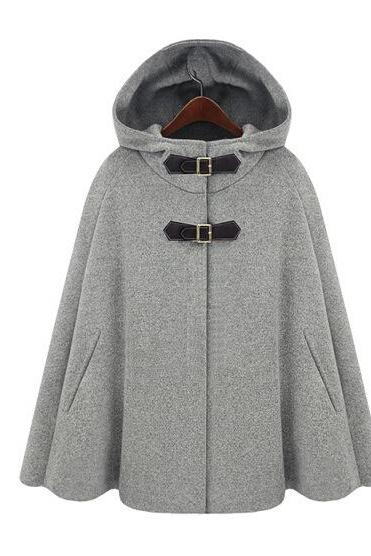 High Quality And Fashion Woman Fur Hat Design Cape Coat (2 Colors)