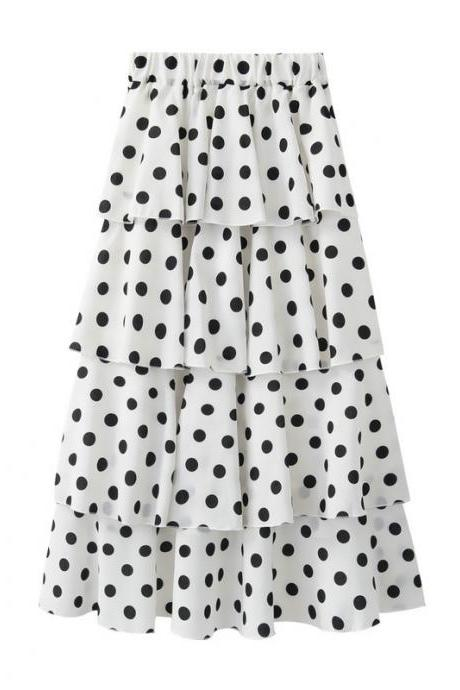 New Fshion Women Dot Chiffon Skirt
