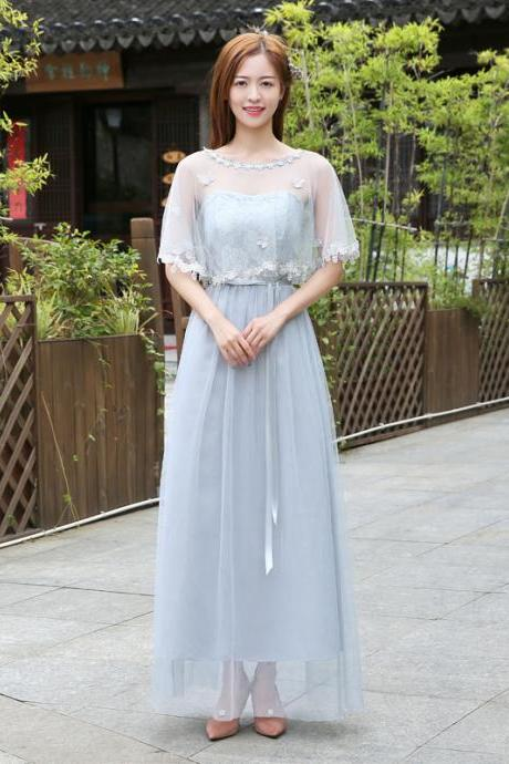 New Bridesmaid Dresses Long For Wedding Party Formal Dress - Light Grey