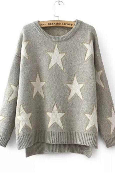 New Arrival Star Decoration Pullovers Sweater