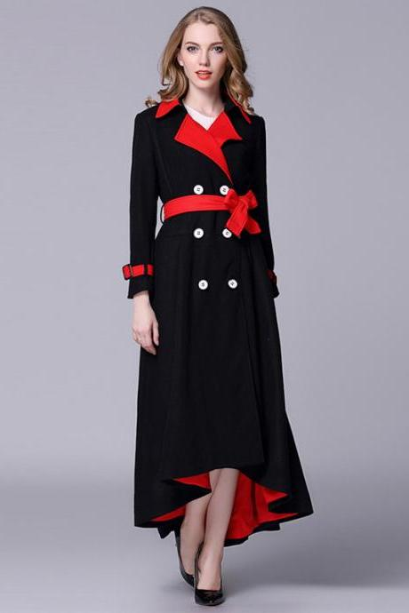 Fashion Essential Woman Cotton Blend Trench Coat