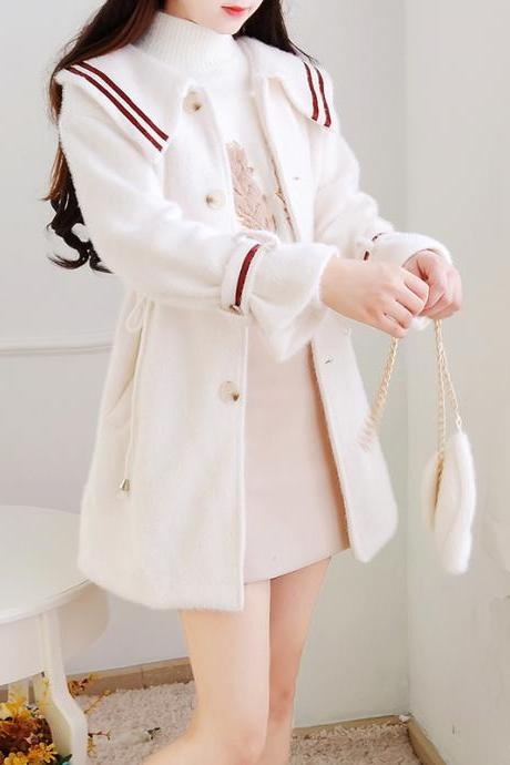 Cute Long Sleeve Winter Coat