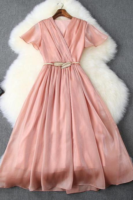Luxury Designer Chiffon Party Dress