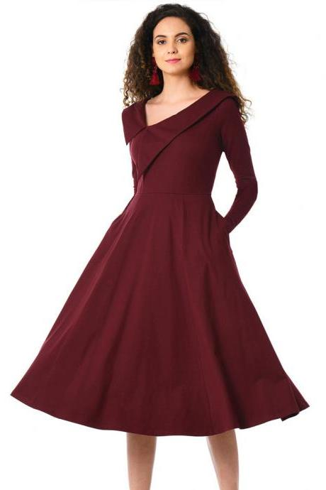 Woman New Design Long Sleeve Dress