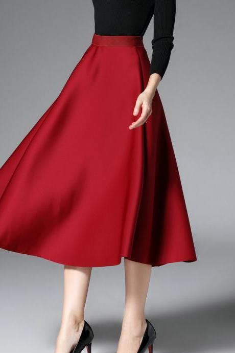 Sexy Women Fashion Autumn Space Cotton High Waist Skirt
