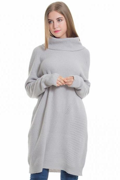 New Women's Turtleneck Loose Long Sleeve sweater
