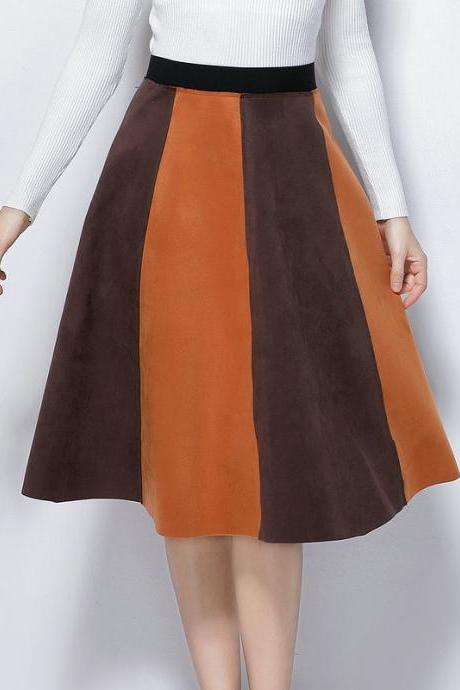 Fashion New High Waist Patchwork Skirt (3 Colors)
