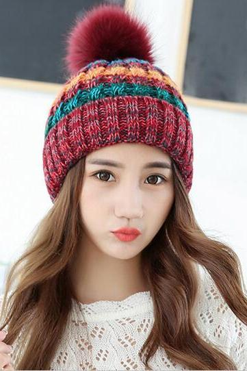 Cute Knitted Hat For Girls