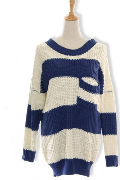 New Arrival Knit Women Pullovers Long Sleeve Winter Casual Sweater