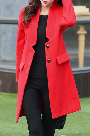 Casual Pocket Decorated Long SleeveCoat (3 Colors)