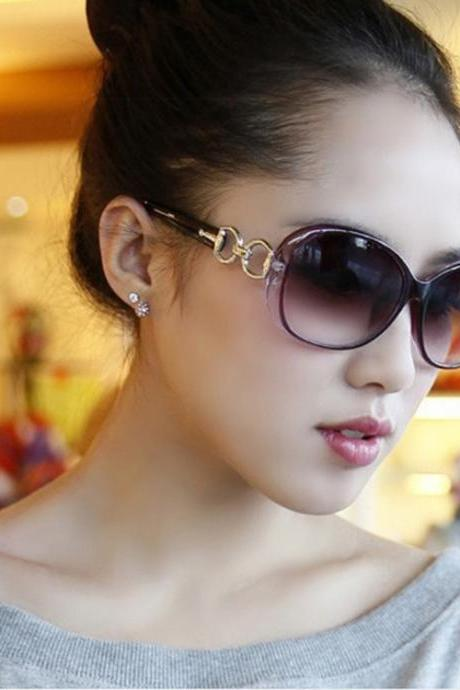 Free Shipping Fashion Gradient Sunglasses For Women - Purple