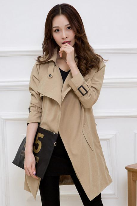 2016 Fashion New Punk British Style Trench Coat (3 Colors)